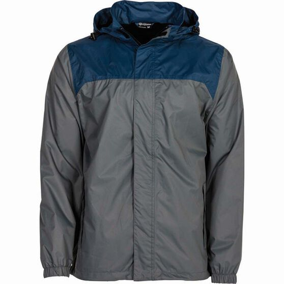 Outdoor Expedition Men's Storm Shell II Jacket, Grey / Navy, bcf_hi-res