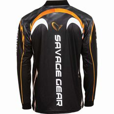 Savage Men's Barra Sublimated Polo Black 2XL, Black, bcf_hi-res