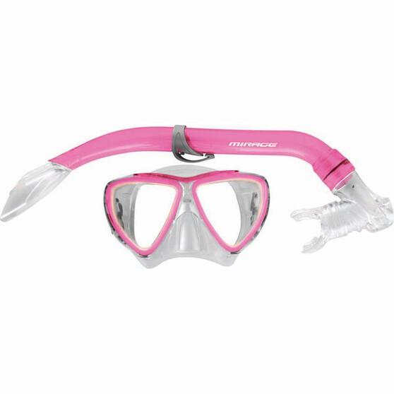 Mirage Junior Turtle Mask and Snorkel Set Pink, Pink, bcf_hi-res