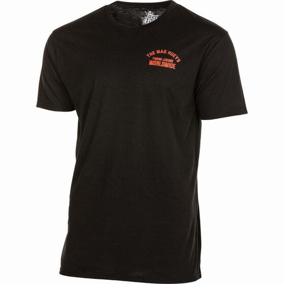 The Mad Hueys Men's Legends Worldwide UV Tee Black / Red XL, Black / Red, bcf_hi-res