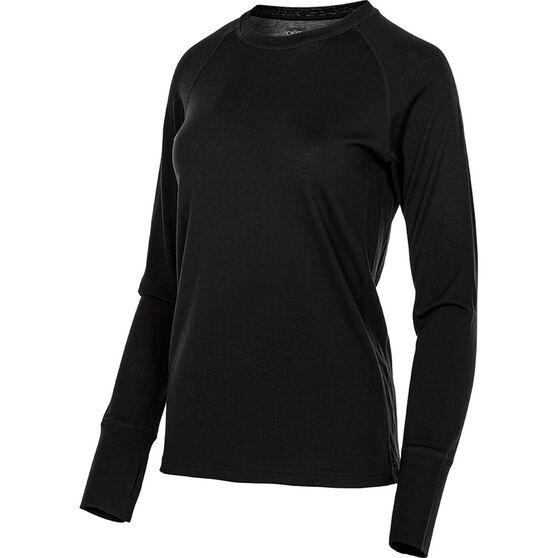 Women's Merino Long Sleeve Top, Black, bcf_hi-res