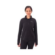 Macpac Women's Tui Fleece Pullover Black 8, Black, bcf_hi-res