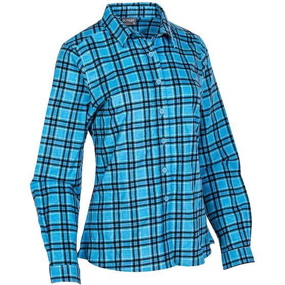OUTRAK Women's Flannel Shirt, Blue, bcf_hi-res