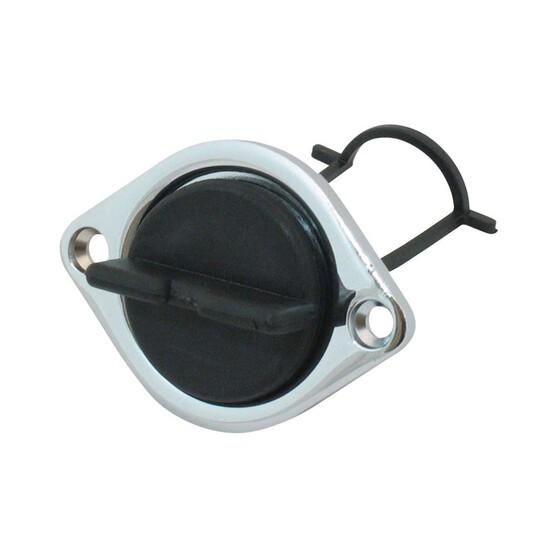 BLA Nylon Drain Plug with Chrome Base 30mm, , bcf_hi-res