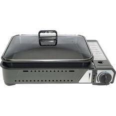 Campmaster Butane Stove with Inset Cooking Pan 1 Burner, , bcf_hi-res
