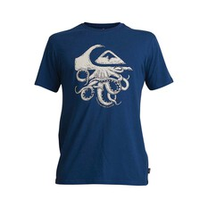 Quiksilver Waterman Men's Imaginary Seas Tee Ensign Blue S, Ensign Blue, bcf_hi-res