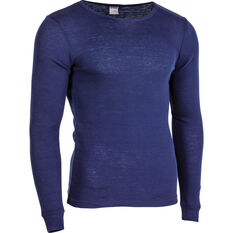 OUTRAK Men's Polypro Long Sleeve Top Blue Depths S, Blue Depths, bcf_hi-res