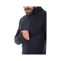 Macpac Men's Prothermal Hooded Pullover, Black, bcf_hi-res