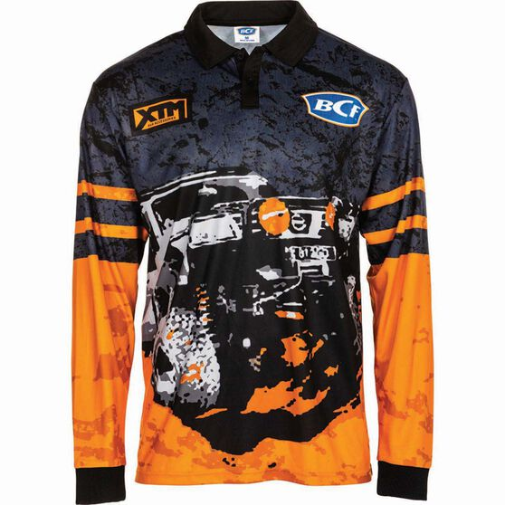 BCF Men's 4WD Sublimated Polo Orange XL, Orange, bcf_hi-res