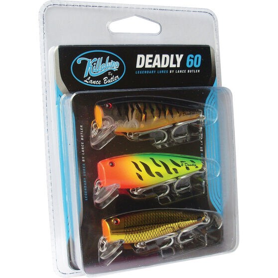 Killalure 2Deadly By Lance Butler Hard Body Lure 60mm 3 Pack 60mm 3 Pack, , bcf_hi-res