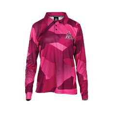 The Mad Hueys Women's Offshore Ocean Camo Fishing Jersey Pink S, Pink, bcf_hi-res
