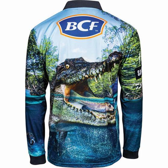 BCF Men's Croc Sublimated Polo, Green, bcf_hi-res