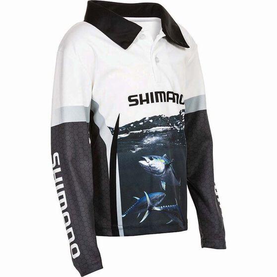 Shimano Kids' Tuna Sublimated Polo Black / Navy / White 7, Black / Navy / White, bcf_hi-res