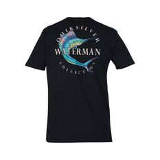 Quiksilver Waterman Men's Reel Stoke Tee Black S, Black, bcf_hi-res