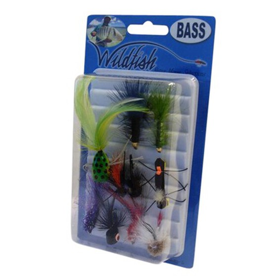 Wildfish Bass Flies 10 Pack, , bcf_hi-res