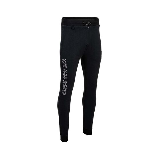 The Mad Hueys Men's Offshore Division Track Pants, Black / White, bcf_hi-res