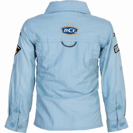 BCF Kids' Long Sleeve Fishing Shirt Spray 4, Spray, bcf_hi-res