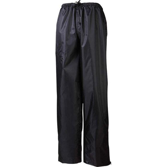 Rainbird Unisex Stowaway Rain Pants, Black, bcf_hi-res