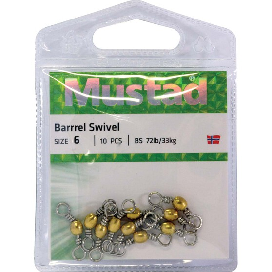 Mustad Barrel Brass Swivel, , bcf_hi-res