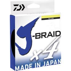 Daiwa J-Braid X4 Yellow Braid Line 135m, , bcf_hi-res