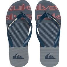 Quiksilver Waterman Men's Molokai Fluid Force II Thongs Blue / Red 8, Blue / Red, bcf_hi-res