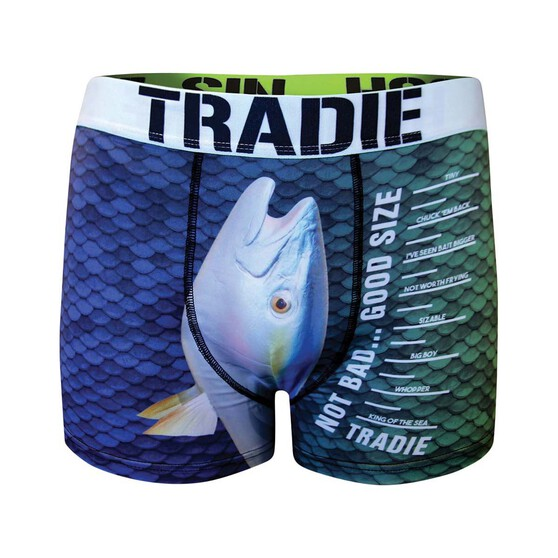 Tradie Men's Not Bad Good Size Trunk, Print, bcf_hi-res