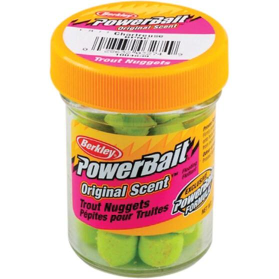 Berkley PowerBait Trout Nuggets Chartreuse, Chartreuse, bcf_hi-res