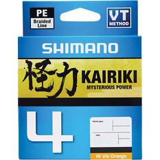 Shimano Kairiki 4 PE Braid Line Orange 300m, , bcf_hi-res