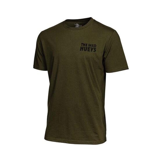 The Mad Hueys Men's Jawsome Short Sleeve UV Tee, Army Green, bcf_hi-res