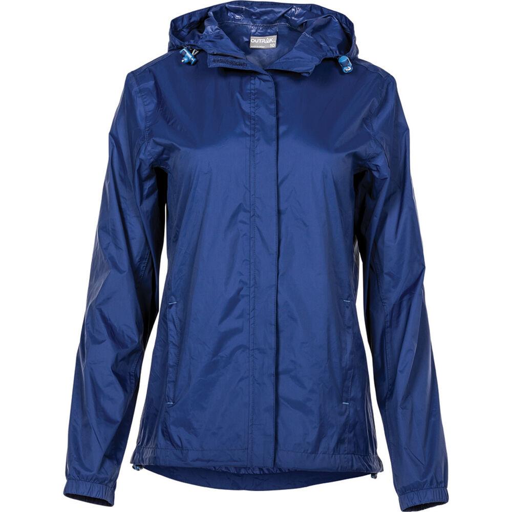 fe5afec4d0ac OUTRAK Women s Packaway Rain Jacket Blue Depths 8