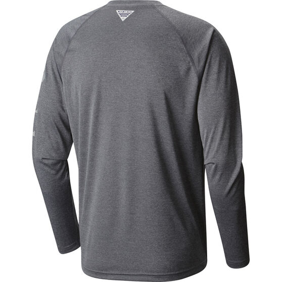 Columbia Men's Terminal Long Sleeve Shirt Charcoal Heather XL, Charcoal Heather, bcf_hi-res