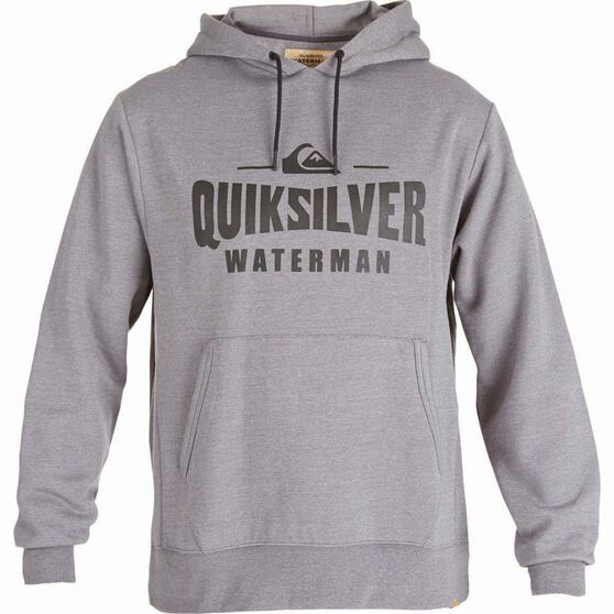 Quiksilver Waterman Melt Water Hoodie, Mid Grey Marle, bcf_hi-res