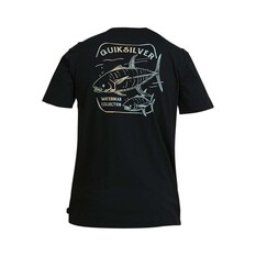 Quiksilver Waterman Men's Kingfisher Tee Black S, Black, bcf_hi-res