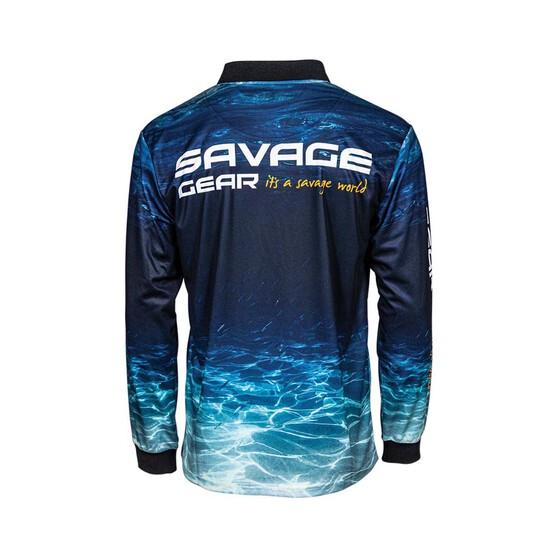 Savage Gear Men's Deep Blue Sublimated Polo, Blue, bcf_hi-res