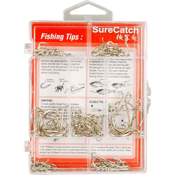 Surecatch Suicide Hook Assorted 140 Pack, , bcf_hi-res
