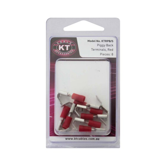 KT Cables Insulated Piggyback Terminal Red 2.5, , bcf_hi-res