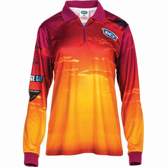 BCF Women's Sunset Sublimated Polo Pink 12, Pink, bcf_hi-res