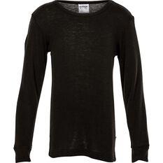 Kids' Polypro Long Sleeve Top Black S, Black, bcf_hi-res