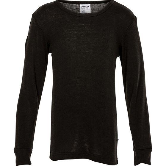 Kids' Polypro Long Sleeve Top, Black, bcf_hi-res