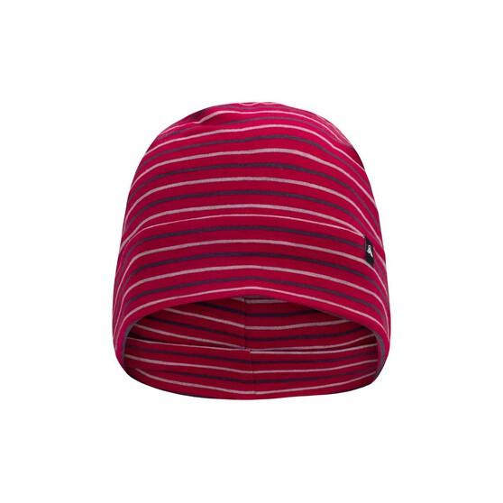 Macpac Unisex Merino 150 Beanie, Persian Red Stripe, bcf_hi-res
