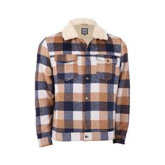 Tradie Men's Back Beach Jacket Wheat / Ink Check S, Wheat / Ink Check, bcf_hi-res