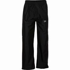 Daiwa Men's Rain Pants Black S, Black, bcf_hi-res