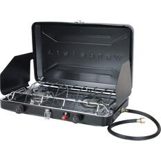 Wanderer LPG Portable Stove with Drip Tray - 2 Burner, , bcf_hi-res