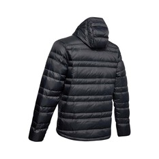 Under Armour Men's Armour Down Hooded Jacket Black / Pitch Grey S, Black / Pitch Grey, bcf_hi-res