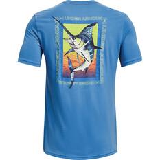 Under Armour Men's Marlin Strike Graphic Short Sleeve Tee, Pure / Hi Vis Yellow, bcf_hi-res