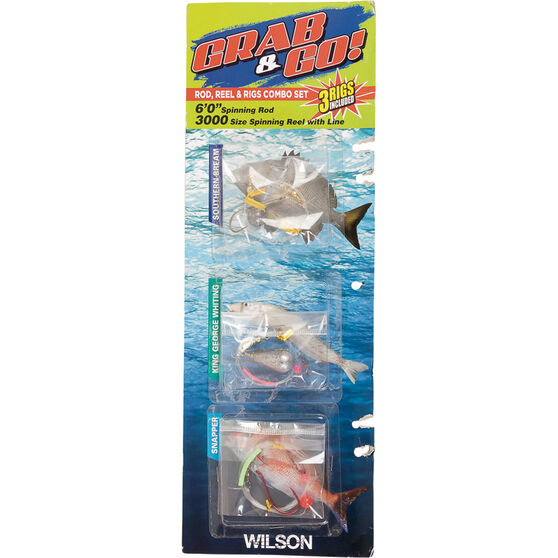 Wilson Grab and Go Spinning Combo 6ft, , bcf_hi-res