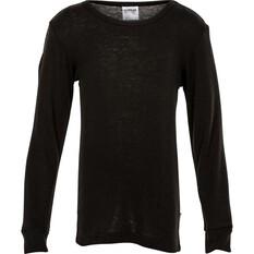 OUTRAK Kids' Polypro Long Sleeve Top Black S, Black, bcf_hi-res