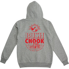 Bush Chook Men's Bush Stamp 2 Hoodie, Black, bcf_hi-res