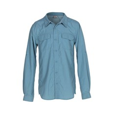 OUTRAK Kids' Long Sleeve Hiking Shirt Blue 8, Blue, bcf_hi-res
