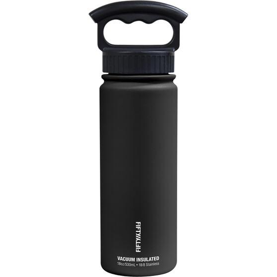 Insulated Drink Bottle 530ml Black, Black, bcf_hi-res